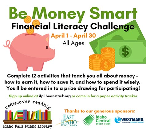 Financial literacy month promotional images