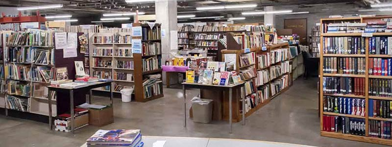 Picture of the Friends of the Library book sale area at the Idaho Falls Public Library