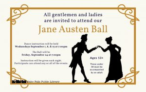 Jane Austen Ball @ Idaho Falls Public Library Meeting Rooms