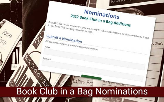 book club in a bag nominations