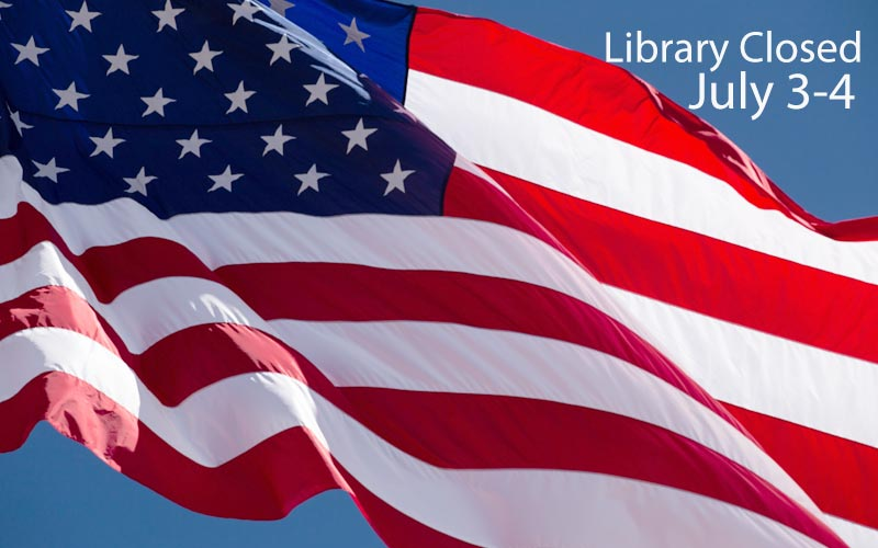 library closed july 3-4