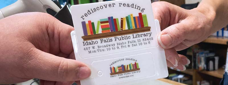 Picture of an Idaho Falls Public Library card