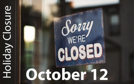 holiday closure october 12