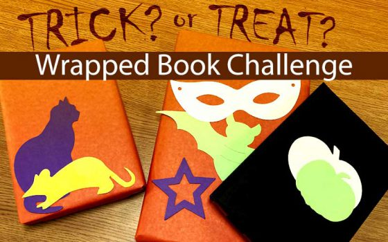 trick? or treat? wrapped book challenge