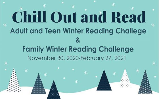 chill out and read winter reading logo